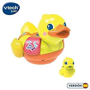 VTech-¡Al Agua Pequeño Unicornio Juguete electrónico para el baño con Voces, Sonidos, Luces y Canciones. (3480-516122)