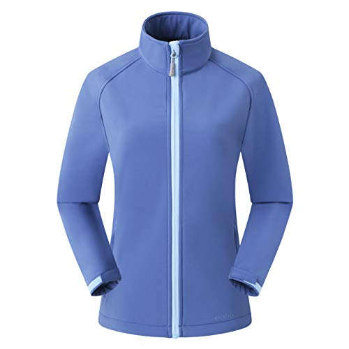 Amazon Marke: Eono Essentials Damen-Softshell-Jacke, Übergangsjacke - Small, Blau