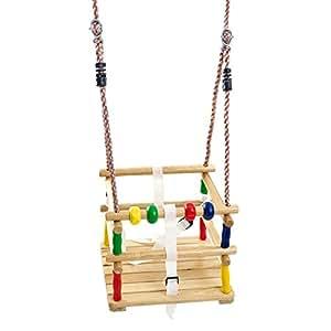 In legno bimbi altalena sedile con imbracatura di for Altalena amazon