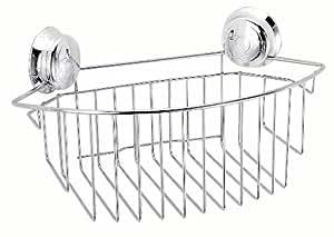 Croydex Twist 'N' Lock Large Storage Basket, Chrome