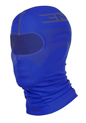 Freenord THERMOTECH EVO '33' Sturmhaube Gesichtshaube Skihaube Skimaske Kopfhaube Thermoaktiv Atmungsaktiv Skiunterwäsche Motorradunterwäsche - Ski - Motorrad (Blau, L/XL)