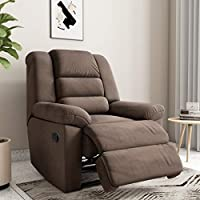 Amazon Brand - Solimo Musca Single Seater Fabric Recliner (Chocolate)
