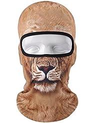 vertast pasamontañas cara máscara, 2017Nuevo diseño 3d animal activo Full Face máscara para esquí ciclismo motocicleta casco liner senderismo Camping calentador de cuello, Lion