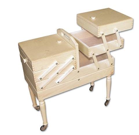 Aumueller Boîte à couture gigogne en hêtre Teinte claire 50 x 25 x 54cm