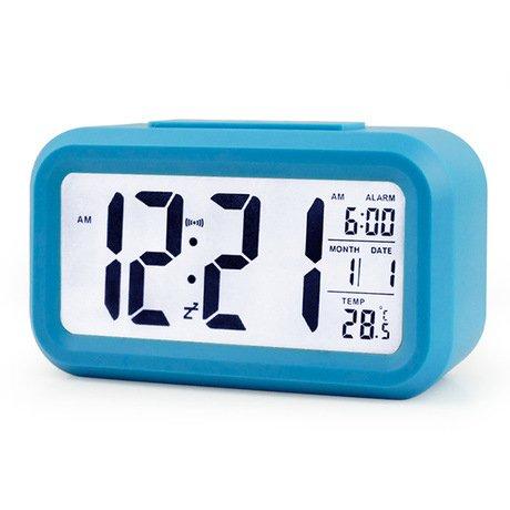 41cFzlu5ZTL - BEST BUY #1 Digital LCD Snooze Alarm Clock + Sensor Light + White LED Backlight Reviews and price compare uk