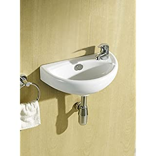 Compact Small Cloakroom Basin Sink + Tap & Trap Set by Adnan