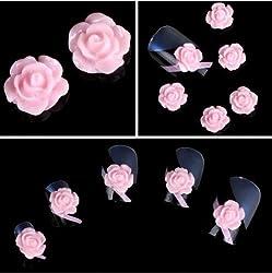 350buy Wholesale 100pcs 3D Pink Little Resin Rose Flower Nail Art Decoration by 350buy
