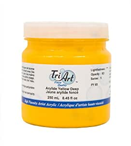 Tri-Art High Viscosity Paint, 250ml, Deep Arylide Yellow by Tri-Art