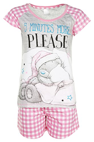 TruffleShuffle Womens Tatty Teddy 5 More Minutes Shortie Pyjamas -
