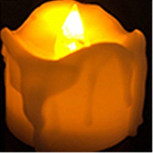 12piezas LED velas luz de noche con batería sin Romance decoración para proponer boda