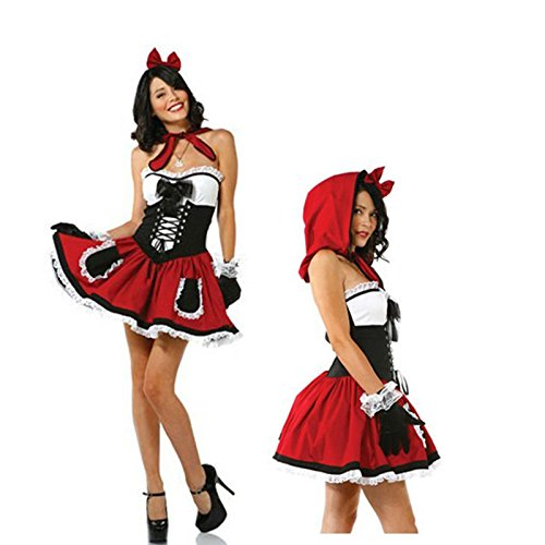 Gorgeous Disney -Märchen Rotkäppchen -Karikatur Cosplay Cosplay Halloween Maskerade Kleidung (Teufel Märchen Kostüm Für Erwachsene)