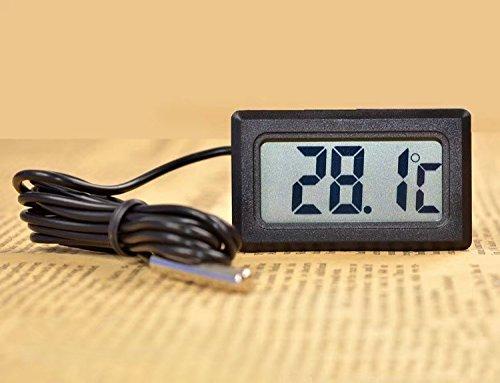 ricisung Digital Kühlschrank Gefrierschrank Thermometer Temperatur Monitor, Stahl, Style-A