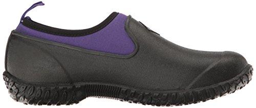 Muck Boots Womens Muckster II Low, Bottes et Bottines de Pluie Femme Noir (Black/purple)