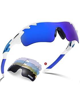 Gafas de sol deportivas-Carfia UV400 Protección Gafas de sol polarizadas para Bicicleta Acampada Golf Running...