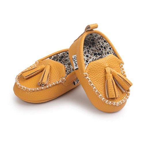 Baby Mädchen / Jungen Lauflernschuhe-Omiky® Baby Mädchen / Jungen Schuh Schuh-Turnschuh Anti-Rutsch weiches Sole-Kleinkind Leder Gelb