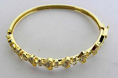 Imported Designer Bracelets Diamond Ftd Silver Polish Valentine Day Special 1pcs + 1pcs free mix