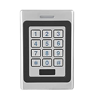 RFID Türöffner Codeschloss,IP67 Wasserdichte Tür Zutrittskontrollsystem Access Control System,RFID-Karten Sicherheit Tür Zugriffskontrolle Keypad Metall Türöffner Passwort Code Silberig