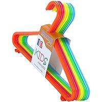 Hangerworld, Set di grucce appendiabiti in plastica per bambini, 29 cm, Multicolore, 10 pz.
