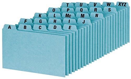 Oxford A-Z Index Card Guide Set, 7,6x 12,7cm, blau Pressspan, 25pro Set (P3525) Rezept-teiler
