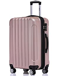 BEIBYE TSA Schloß Zwillingsrollen 2050 Hartschale Trolley Koffer Reisekoffer in M-L-XL-Set in 12 Farben