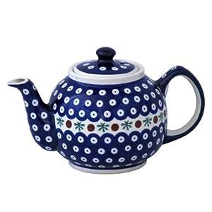 Boleslawiec Pottery Teapot, 1.0 L, Original Bunzlauer Keramik, Decor 41