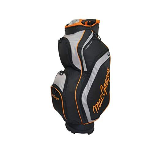 MACGREGOR MACBAG129 Golftasche, Schwarz/Blau, Einheitsgröße, Herren, MACBAG129, schwarz/orange, Einheitsgröße (Blau Und Orange Golf-bag)