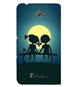FUSON Love Is Being Togther 3D Hard Polycarbonate Designer Back Case Cover for Sony Xperia M4 Aqua :: Sony Xperia M4 Aqua Dual