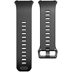Fitbit Ionic, Classic Accessory Band, Black, Gray, Large