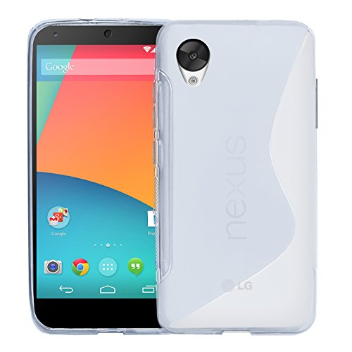 Conie Hülle für Google Nexus 5 Hülle, [S Line Series] Soft Flex TPU Case Ultradünn Echtes Telefongefühl handyhüllen PC Bumper Cover Schutz Tasche Schale Schutzhülle, für Google Nexus 5 (5.0