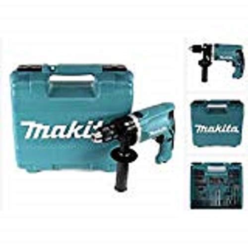 Makita Schlagbohrmaschine im Koffer, 710 W inklusiv 74 teilig Zubehör, HP1631KX3
