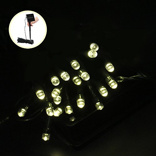(Denknova® 2M 20er LED Solar Lichterkette, Deko String Licht mit Lichtsensor, wasserdicht, Warmweiß)