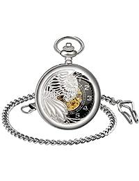 Infinity U- Orologio da tasca meccanico retrò Eagle Wings Idea regalo per uomo donna
