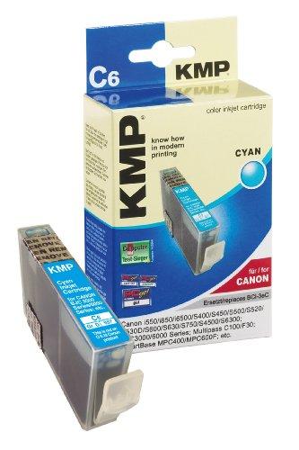 KMP Tintenkartusche für Canon BJC3000/6000Series, C6, cyan