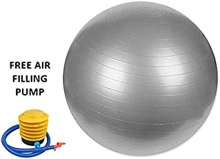 Anti Burst Gym Ball Swiss Ball for Body Building Unisex with Free Air Filling Pump,Size 65cm,75cm,85cm, 95cm