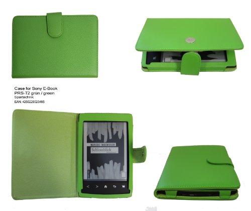 Tasche für Sony PRS-T2 von Spartechnik - bestes Case Hülle Etui Tasche für Sony E-Book Reader Elektronisches Buch PRS T2- grün Apfelgrün