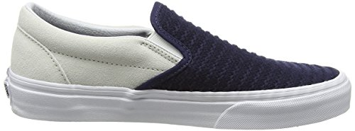 Vans VZMRFJH, Unisex Adults' Low-Top Sneakers, Multicolour (Suede/Woven Navy Blue/True White), 5 UK (38 EU)