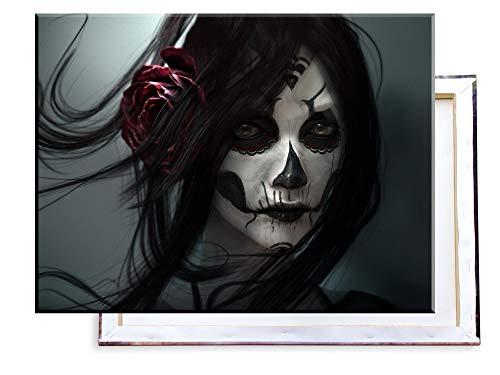 Unified Distribution Gothic La Catrina Sexy Girl - 80x60 cm - Bilder & Kunstdrucke fertig auf...