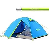 Tentock Ultralight blau Kuppel Zelt Camping, Outdoor, winddicht Regen-Doppelschicht Zelt für 2–3Personen Grün