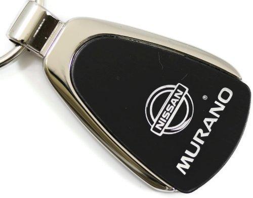 nissan-murano-goutte-noir-porte-cles-avec-logo-authentic-cle-avec-dragonne-et-porte-cles
