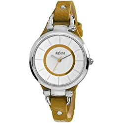 Linke Hand Gitarrenwandhalter IX32222-639Damen Armbanduhr, Leder, Farbe: gelb