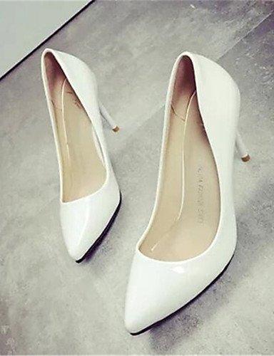 WSS 2016 Chaussures Femme-Habillé / Soirée & Evénement-Noir / Violet / Rouge / Blanc-Talon Aiguille-Talons-Talons-Similicuir black-us7.5 / eu38 / uk5.5 / cn38