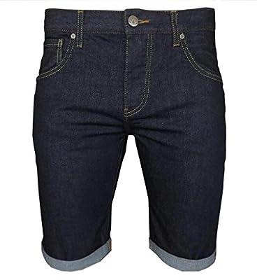adidas Originals Men's Rinden Slim Fit Denim Shorts Navy