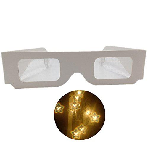 Gafas de difracción de cartón de papel - Paquete de estrella y sonrisa 50
