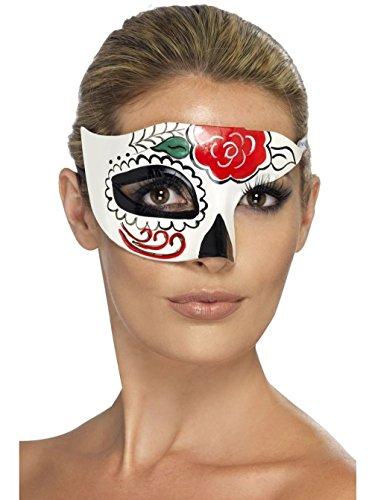 Uwant Mode Tag Der Toten Zuckerschädel Halb Augen Maske Damen Kostüm Zubehör