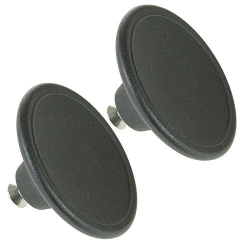 spares2go Universal 5,5cm groß Griff Deckel für Tee Urne/Chrom Schaltknauf Wasserkocher/Bratpfanne + Sautépfanne (schwarz, 2Stück) -