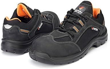 Samurai 1034300007 par de zapatos bajos verano S3 SRC, negro/naranja, 45