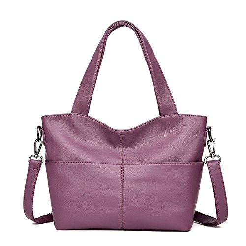 DHFUD Damenmode Tragbare Schulter Messenger Bag Purple