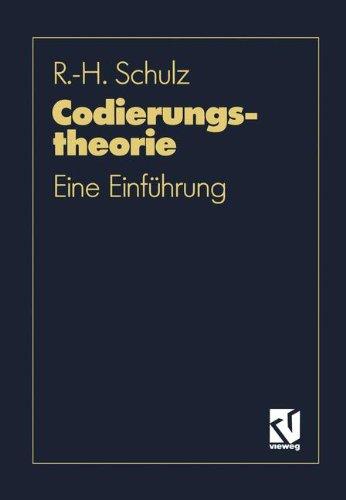 Codierungstheorie: Eine Einführung