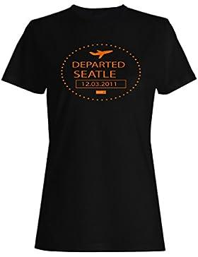 Seattle 12.03.2011 el sello salió divertido camiseta de las mujeres f974f