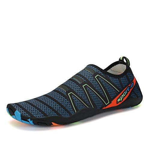 Voovix Aqua Shoes Escarpines Hombres Mujer Zapatos de Agua Zapatillas Ligeros de Secado Rápido Para Swim Beach Surf Yoga(Verde Oscuro, 37EU)